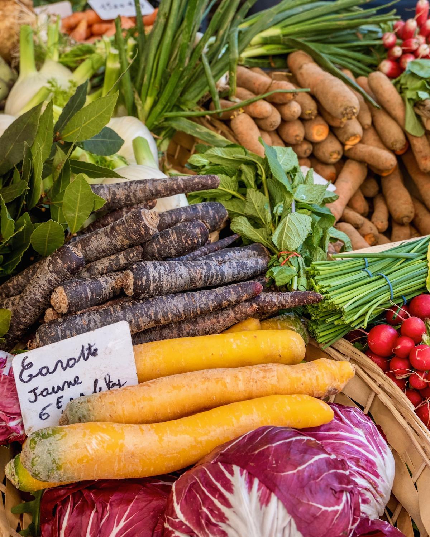 marché raspail vegetables