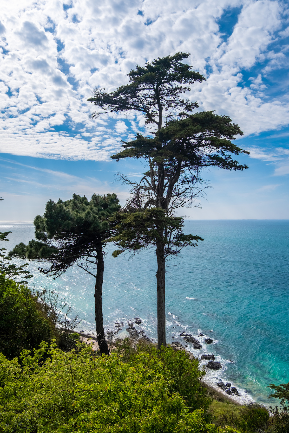 the view from christian dior's childhood home in granville, normandy