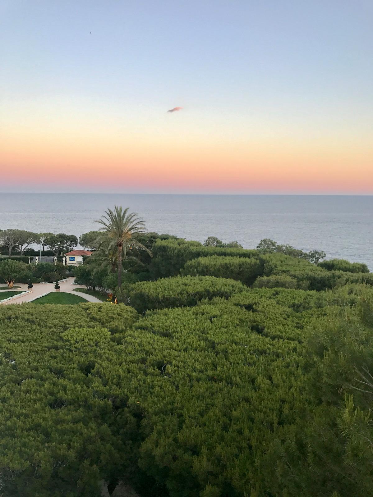 sunset from grand hotel du cap ferrat