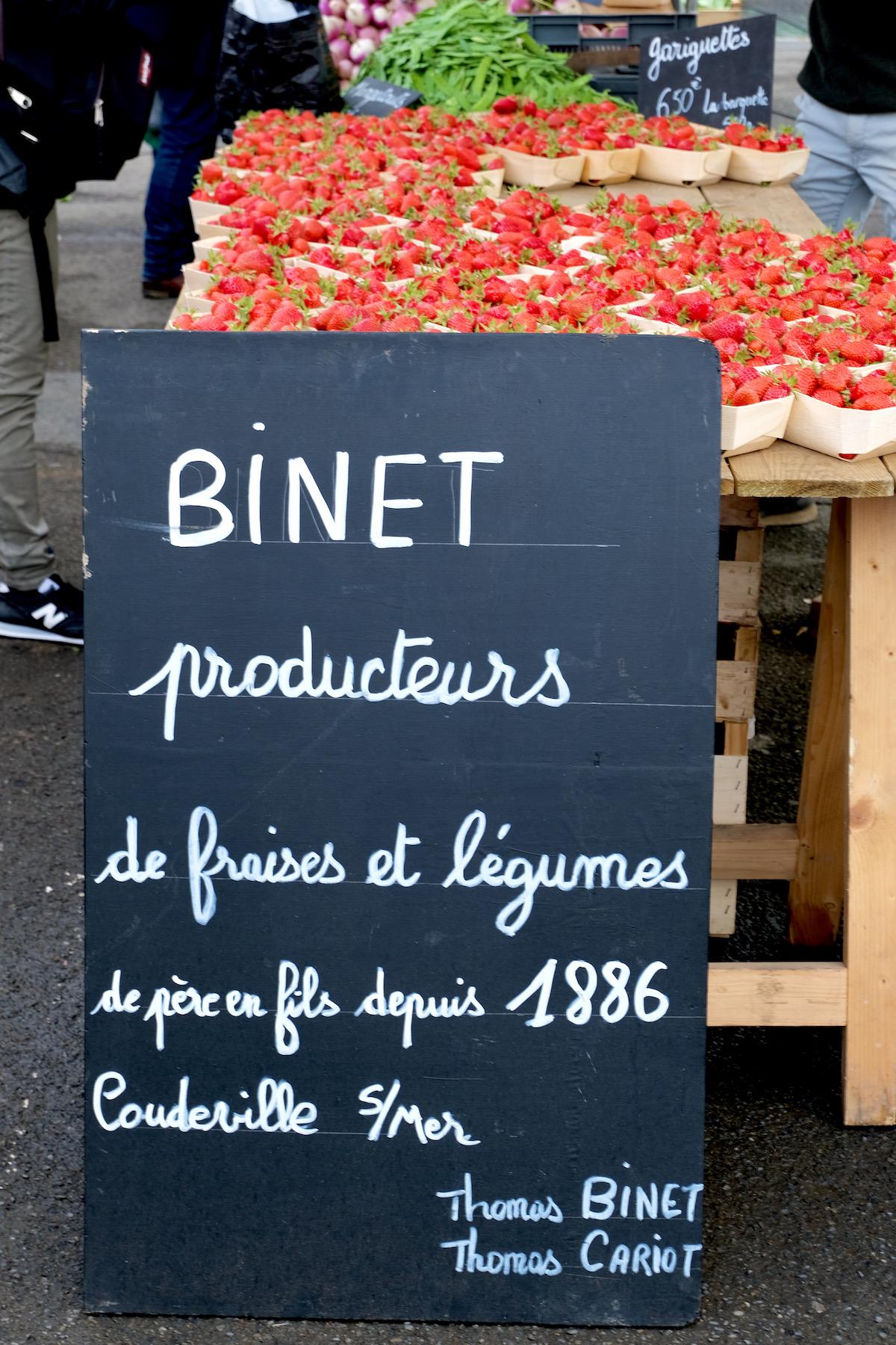 normandy market strawberries