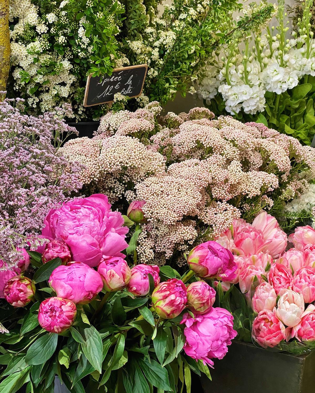 flowers in paris on rue du bac