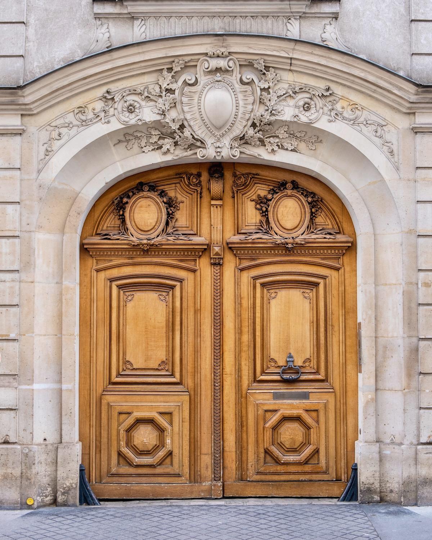 left bank wooden door