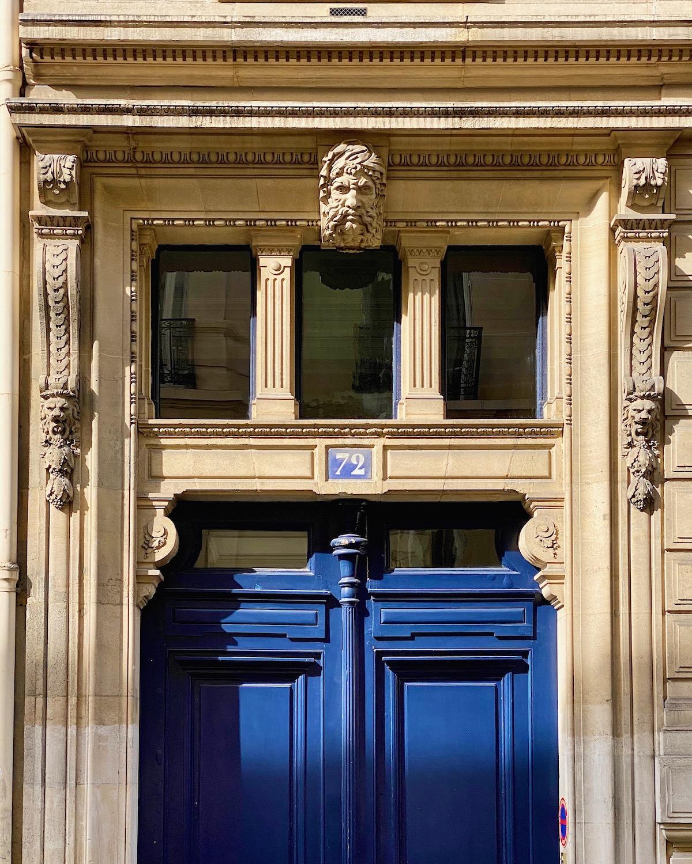 rue de lille blue door