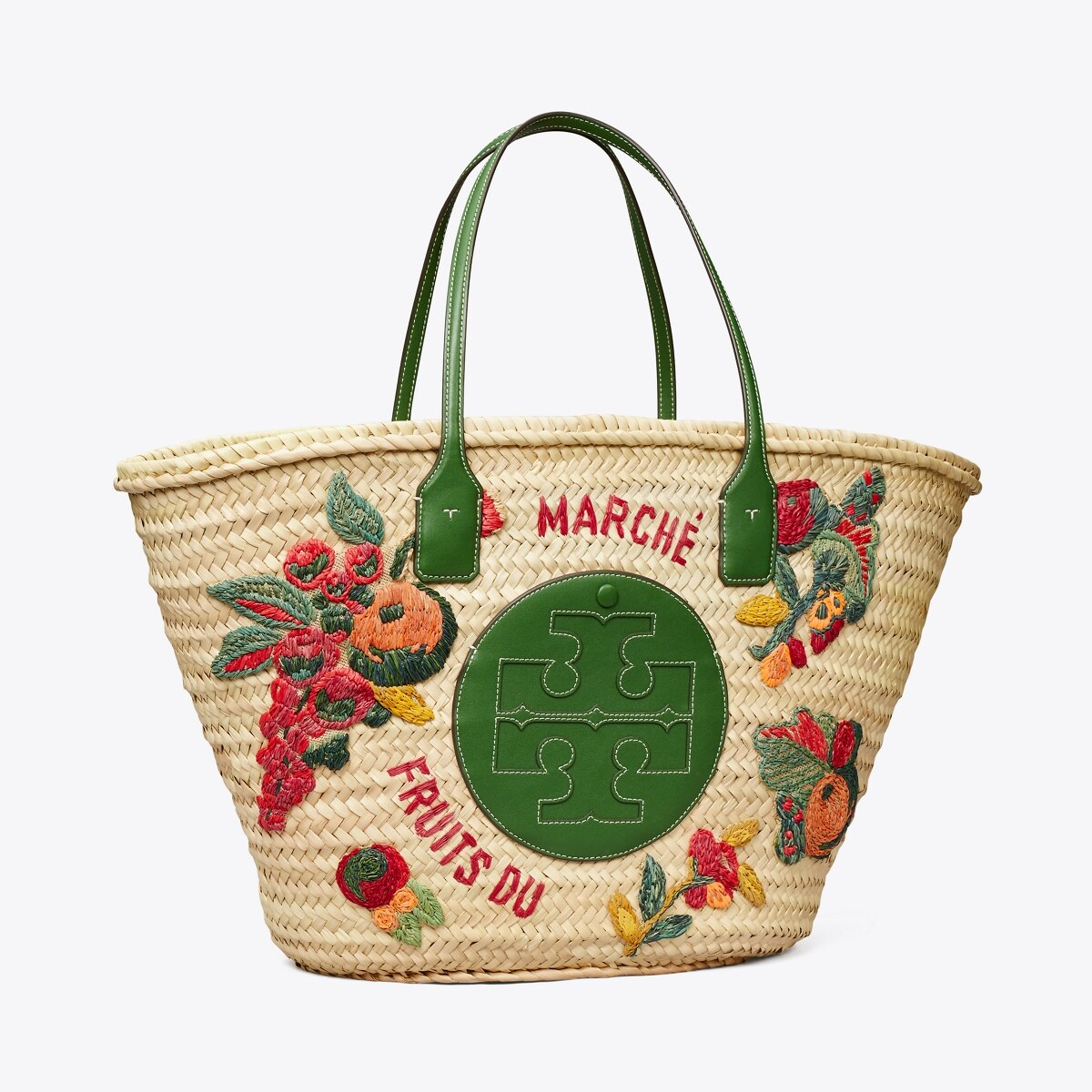 tory burch embroidered market basket