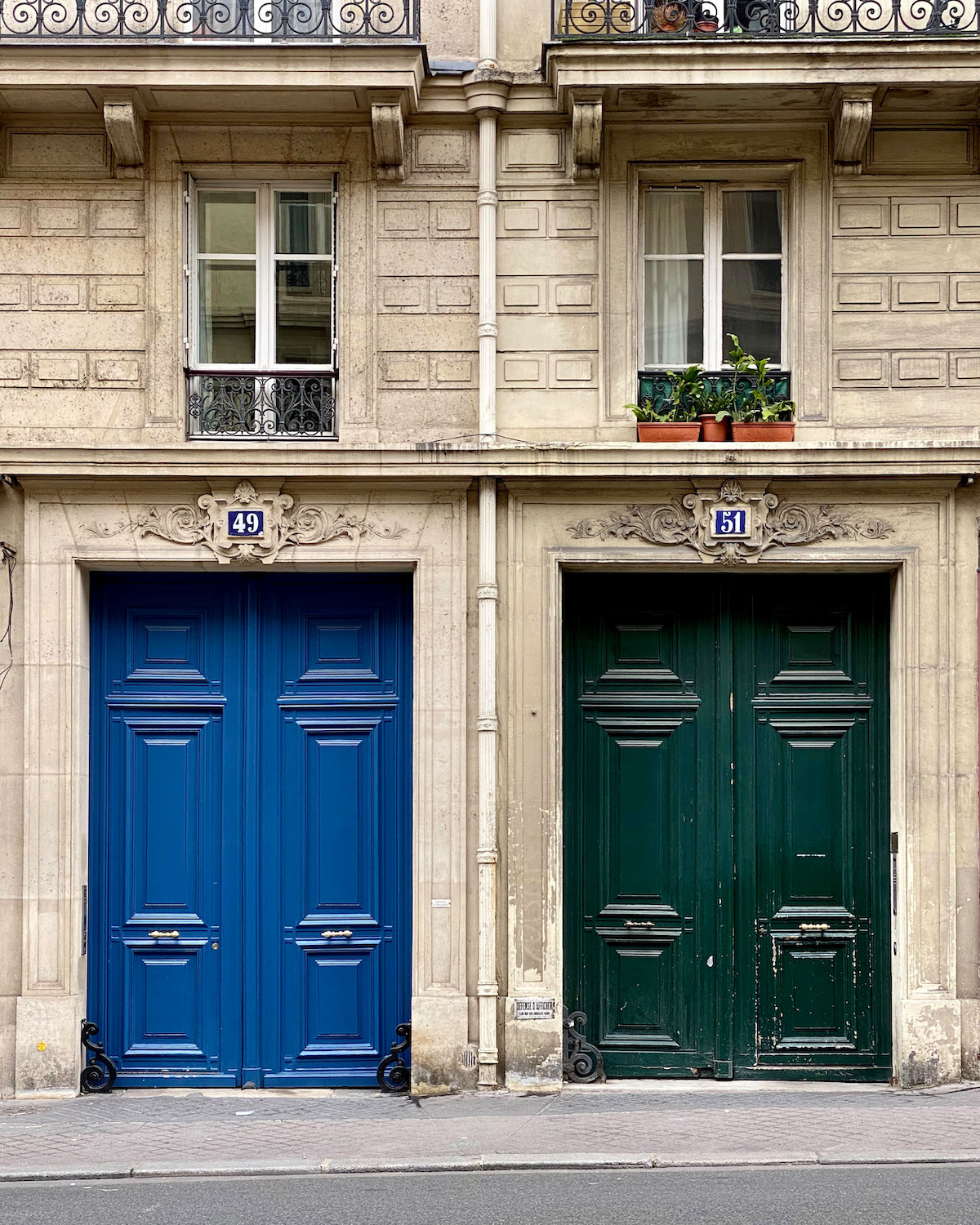 blue and green doors in paris. five friday finds from france featuring the ducasse-sur-seine dinner cruise
