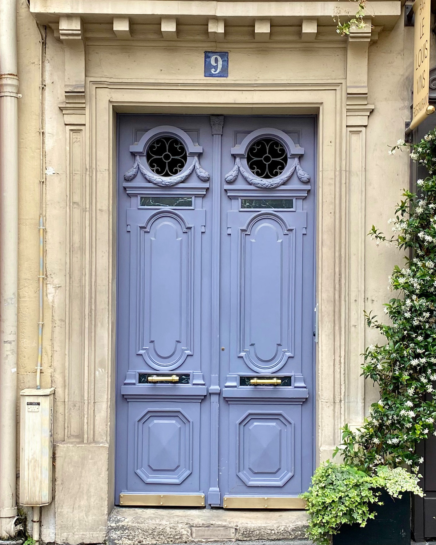 periwinkle blue door paris