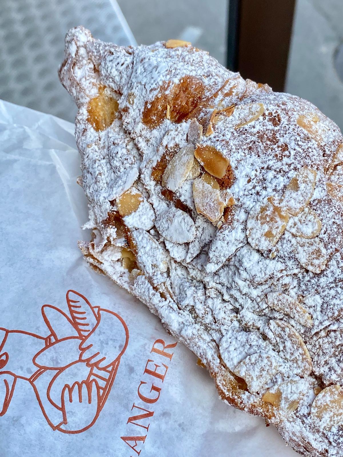 almond croissant from le boulanger de la tour
