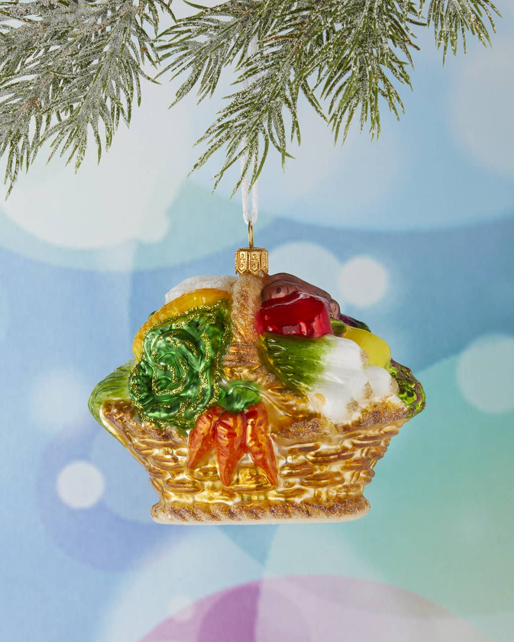 french market basket ornament