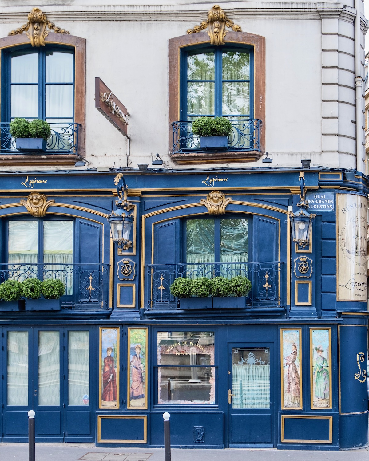 laperouse facade. five friday finds from france featuring a seine-side restaurant and how to get a french health pass