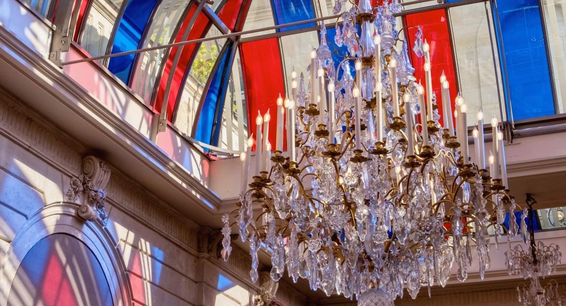 daniel buren installation at élysée palace