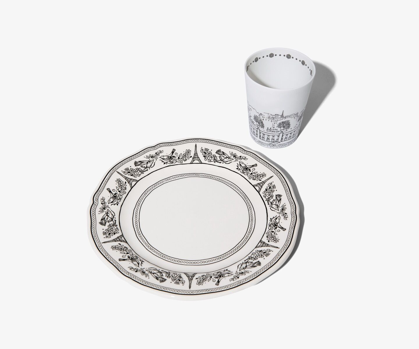 diptyque paris plate and candle holder
